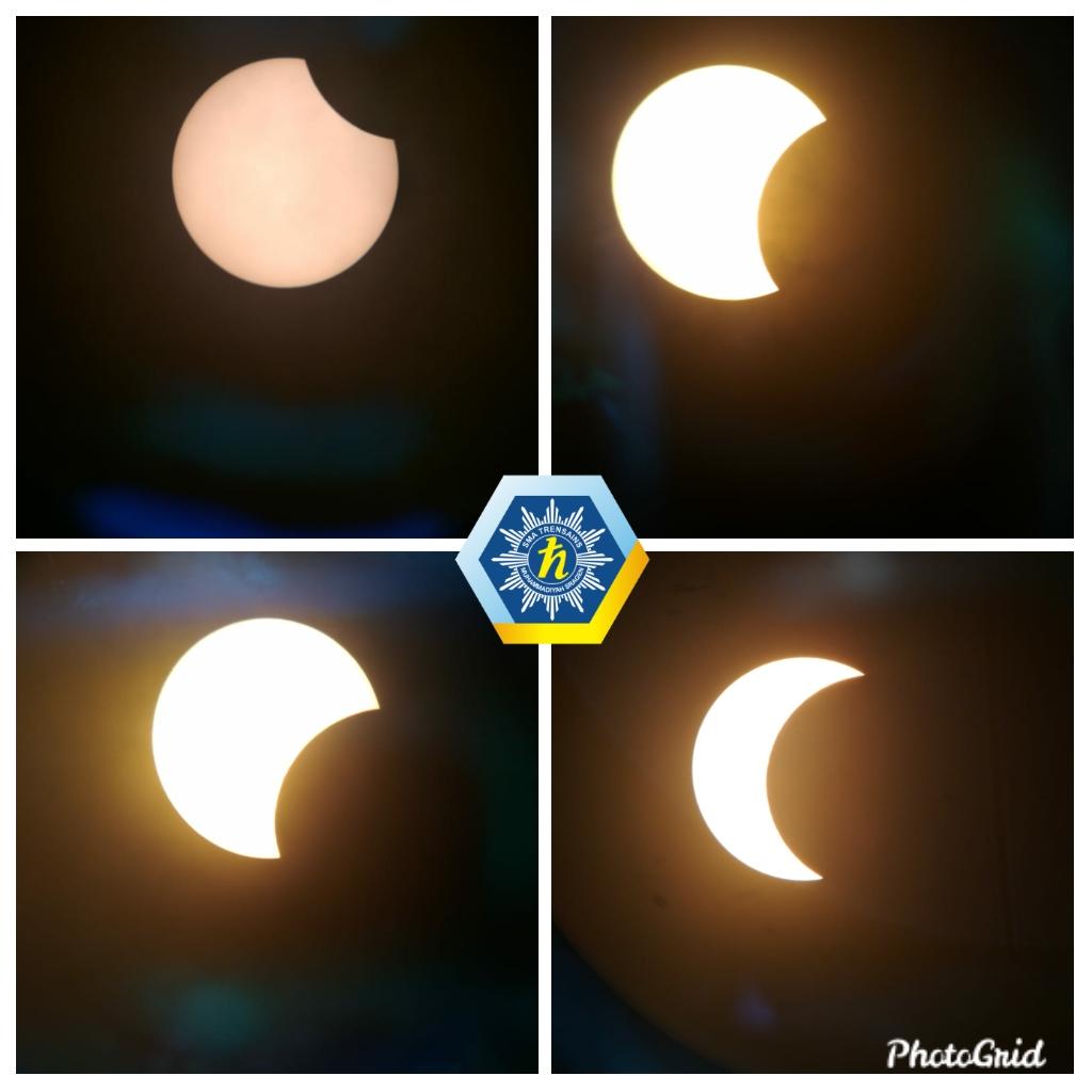 Penampakan Gerhana Matahari di Kabupaten Sragen. Gambar Diambil dari Teleskop (Rabu, 26/12/2019)